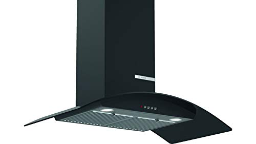 Bosch Serie   2 90cm Integrated Glass Wall Mounted Hood Chimney   Real Suction 745 m3/h DWH098D60I