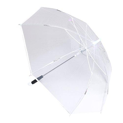LED Schwert Regenschirm laserschwert mit 7 Farben und Integrierter Taschenlampe (Klar)