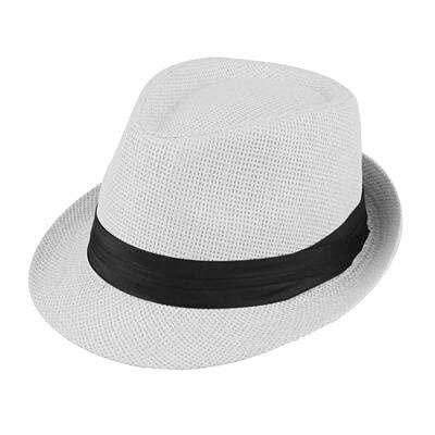 GPQHSM Gorra Playa Pata Sol Sombreros con Estilo Mujeres Hombres Panama Jazz Sombreros Vaquero gángster Gorra con Cinturones de Ventas de cinturón Negro Sombreros y Gorras (Color : 7, Size : 55-58cm)