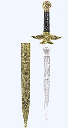 Dolch Lohengrin mit goldener gravierter Scheide