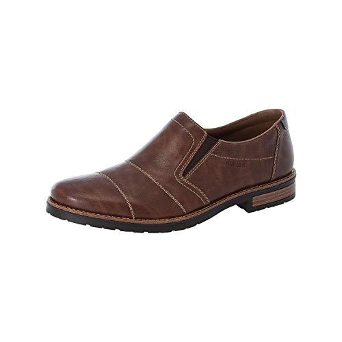 Rieker Herren Mokassins, Männer Slipper, schlupfhalbschuh Slip-on Loafer businessschuh,Braun(Wood),40 EU / 6.5 UK