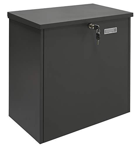 Arregui Bigpack Base EP2104 Individual de Acero para paquetería Grande, buzón para Paquetes, Negro