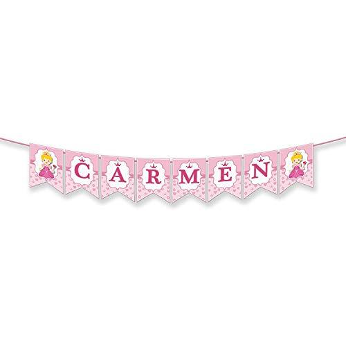 Guirnalda Personalizada Con Nombre - Carmen, Carme, Mar, Enma