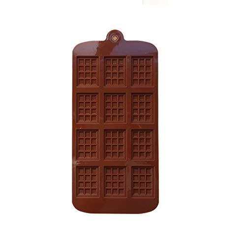Moldes de jabón de silicona 2 PCS Silicone Mini Bloque de chocolate Barra Molde Molde Molde Bandeja de hielo Decoración de pastel para hornear Pastel de horneado Jelly Candy Tool DIY Moldes Herramient