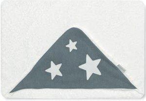 Bimbi 00740920 – Maxicapa Motif couronne, 100 x 100 cm, blanc et gris