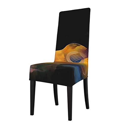 DOGPETROOM guitarra y pintura colorida abstracta gran silla de comedor cubierta de alta espalda para hotel fiesta boda cocina