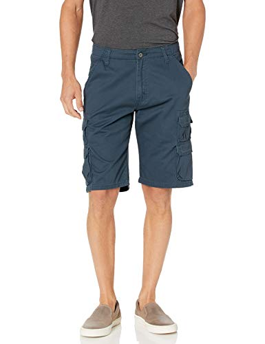 Wrangler Authentics Men's Premium Twill Cargo Short, Midnight, 36