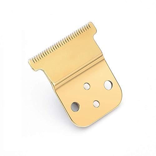 Juego de cuchillas de repuesto Pro Li Trimmer #32105 - D7#32655 D8#32400-Hoja de cerámica-Juego de cuchillas de acero al carbono-Competitivo con la Cortapelos Slimline Pro Li de D8 Slimline (Dorado)