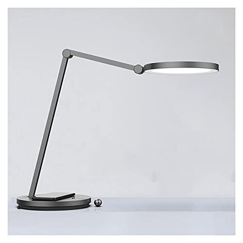 zlw-shop Lámpara de Escritorio LED Lámpara de Oficina para el hogar Regulable Control táctil 8 Nivel de Brillo Protección de Ojos Luz de Lectura con Polo de Metal Plegable