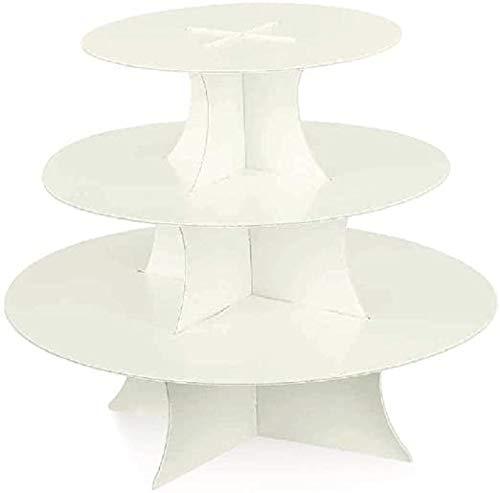 Alzata Alzatina cartoncino 3 piani semplice bianco perlato