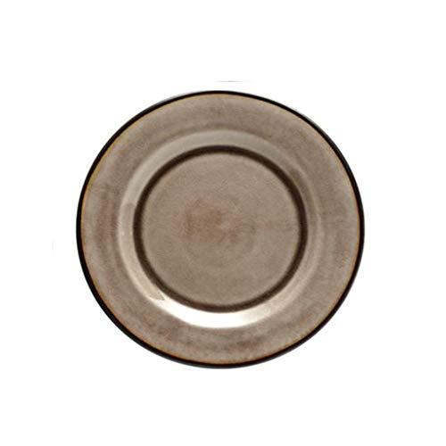 Platos de Cena de Vajillas -CDingQ Plato de carne Plato de pizza Pastel de sushi Plato de múltiples funciones Retro Plato Pan Snack Plate Apoyos de la Foto ( Color : B , Size : 21.8*2.2CM )