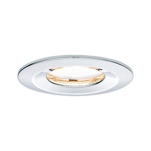 Paulmann Licht 938.83 Chrom Paulmann 93883 LED Einbauleuchte Coin Flache Einbaustrahler Slim Deckenspot rund 6,8W Einbaulicht dimmbar IP65 strahlwassergeschützt, 6.8 W, 230 V