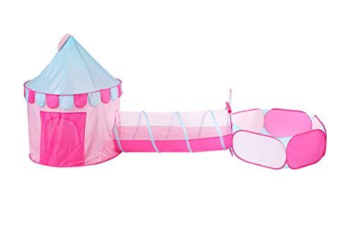 Truedays Spielzelt für Kinder mit Tunnel, 3-in-1-Spielplatz, Spielzelte für Mädchen und Jungen, Kleinkinder drinnen und draußen Kinderspielzelt