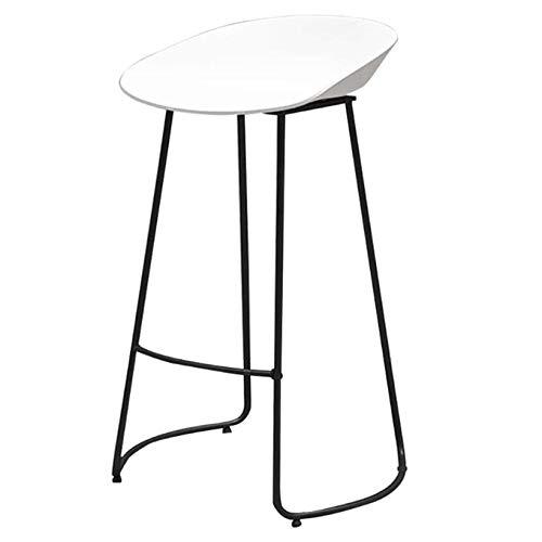 LHDQ Hohe Küchenhocker Nordische schmiedeeiserne Hocker | für Counter Cafe Küche Frühstück Pub | Kreative einfache Freizeit Barhocker Stuhl | Maximale Belastung 200 kg,75cm