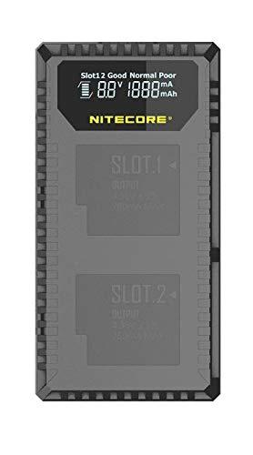 Nitecore UGP5 - USB-oplader met LCD-display voor GoPro Hero 5 accu's