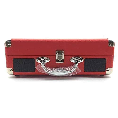 Nostálgico Tocadiscos Tocadiscos Bluetooth Recargable Fonógrafo Portátil Cubierta De Mezclilla Maleta Tocadiscos Grabadora USB + SD Y Conector De Auriculares Y Salida De Línea RCA Y Entrada Aux (C