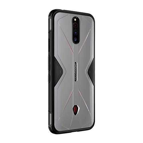 FUNMAX+ Red Magic 5G Hülle Hülle, Semi-Transparent Anti-Fingerabdruck Mattierter Handyhülle Schutzhülle Stoßfest Silikon Bumper Hybrid Hülle für Nubia Red Magic 5G (Durchscheinend)