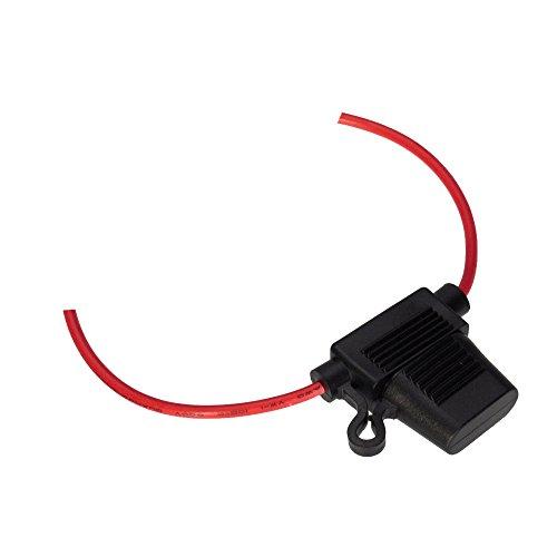 Mintice voiture Mini fusible de calibre 12 In-Line AWG cuivre fil 12V 24V lame Prise