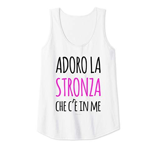 Donna Adoro La Stronza In Me Canottiera Sportiva Divertente Donna Canotta