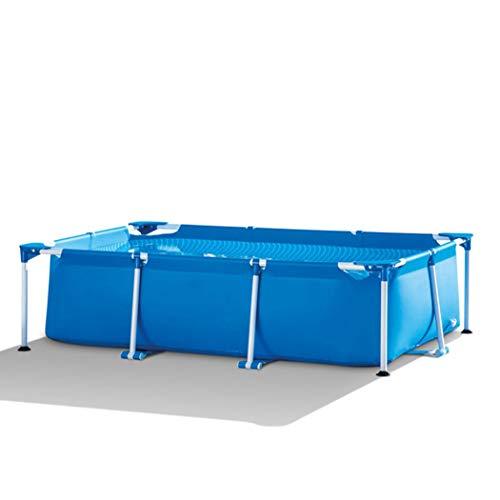 AXHSYZM Stahlrahmen-Pool-Set für Kinder Swimmingpool zu Hause Familie Erwachsene verdickte Fischteich