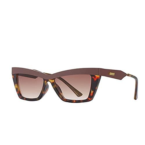 YTYASO Gafas de Sol de Ojo de Gato con Haz de Metal Gafas de Sol cuadradas para Mujer Gafas de Sol con Montura destacada Espejo para Mujer