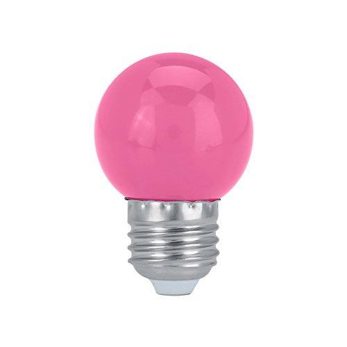 GLOGLOW 3W E27 llevó la Bombilla Redonda en Forma Dormitorio hogar Partido Partido Festival iluminación Decorativa la lámpara múltiples Colores lámpara Decorativa para el Partido la ba(Rosa)