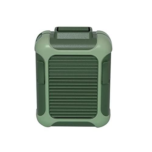 YNLRY Portátil Mini Handheld Fan De Carga USB Coolador De Aire Soporte De Teléfono Móvil Soporte para Uso Compartido De Estudiantes (Color : Green)