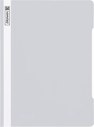 Brunnen 102011080 Schnellhefter (A4, aus PVC, glasklares Deckblatt) grau