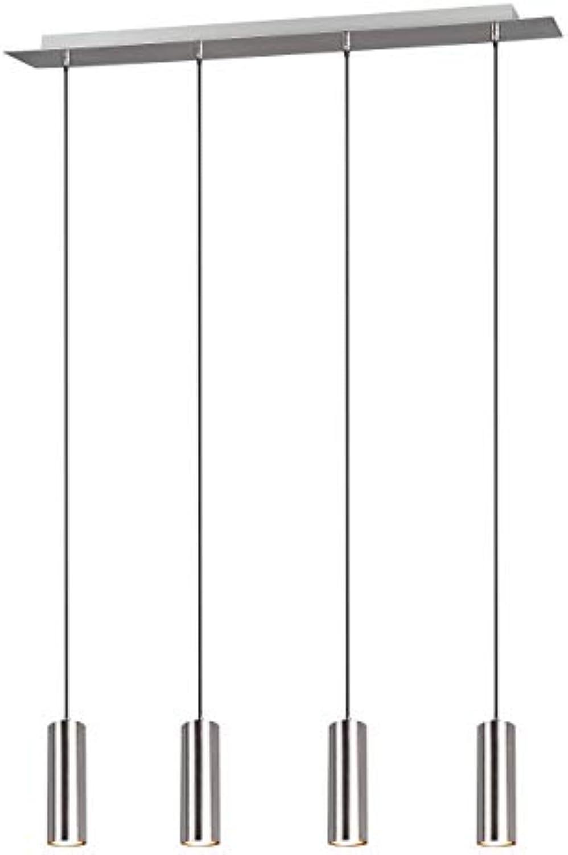 Trio Leuchten Pendelleuchte Marley 312400407, Metall Nickel matt, Pendel 4-flammig, exkl. 1 x GU10