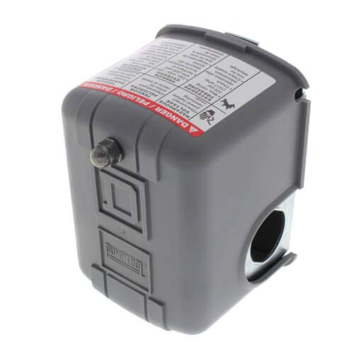 Commercial Pressure Switch, Reverse Acting, 2 Pole, 1HP, 1/4