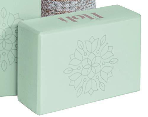 Holi Infinite Mandala Bloom Blocchi – Mattoni per Pilates | Verde | 23 x 15 x 8 cm | 1X | In Schiuma Eva ad Alta Densità | Non Tossico | Ecologico | Mattone di Posizionamento