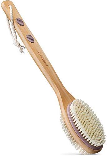 MainBasics Dual Sided Long Handle Bath Shower Brush Back Scrubber Body Exfoliator product image