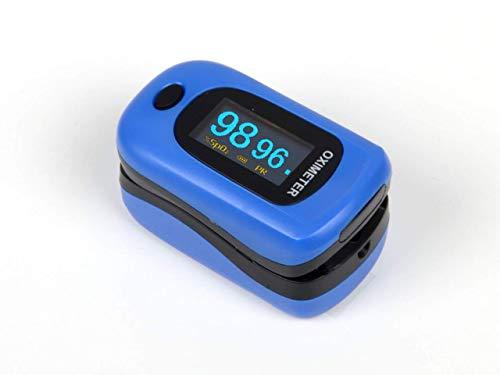 GIMA OXY 4 Pulsossimetro da Dito, Ossimetro 3 in 1 Misura Ossigenazione Sangue, Battito Cardiaco, Indice di Perfusione, Lettura Istantanea, Dispositivo Medico Classe II A, Blu