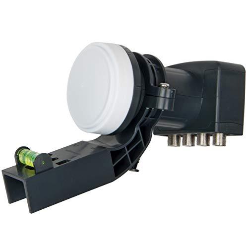 Visiblewave 4K Quad VK4L 4 Output HD for SKY HD   Freesat HD with Bracket, Black