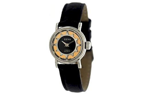 Zeno Watch Basel Damen Uhr Analog Mechanik mit Leder Armband 3216-s61