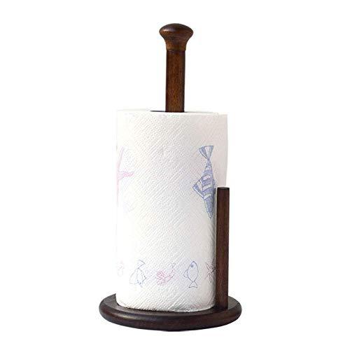 Portarrollos de papel de cocina vertical de madera para papel higiénico dispensador de rollos de cocina soporte para decoración del hogar, A, A (color: A)