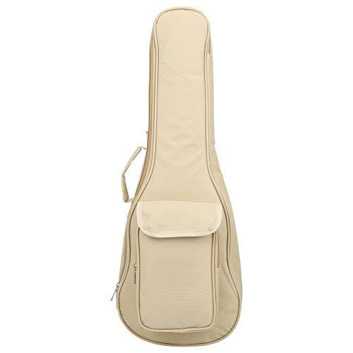 Ukulele Carry Bag 24in Beige Waterproof Oxford Cloth Ukulele Gig Bag with Adjustable Shoulder Strap Guitar Parts