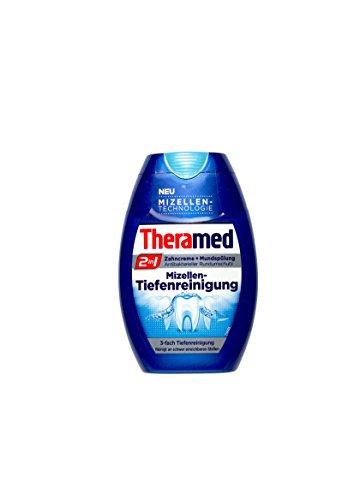 Theramed 2 in 1 Zahncreme + Mundspülung Mizellen-Tiefenreinigung 75 ml