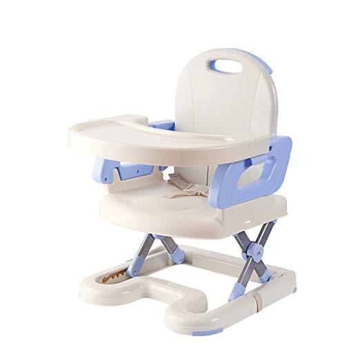 D-Z Kinderhochstuhl Kinderhochstuhl Faltbar Vielseitiger Tragbarer Hocker Baby-Esstisch Und Stühle Startseite/Reise Möglich ++ (Farbe : Blau)