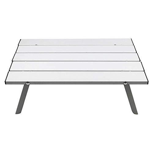 Las tablas Mesa plegable pequeña mini portátil plegable al aire libre Aluminio de la aviación soporte de sobremesa de viaje integrada y tabla simple con la bolsa de almacenamiento for acampar o de jar