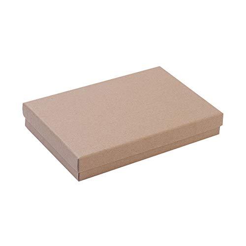 NBEADS Schachtel, 24 Stück, 12,5 × 18 cm, Rechteckig, Karton-Perlen-Papier, Geschenk-Box Für Schmuck, Armband, Halskette, Basteln, Geschenk, Armreif, Display und Aufbewahrung.