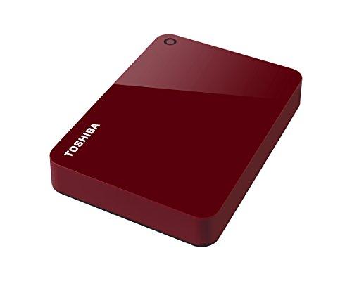 Toshiba Canvio Advance - Disco duro externo (4000 GB, 3.0 (3.1 Gen 1), Rojo)