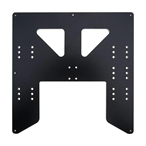 Soporte de cama calefactable placa de aluminio anodizado Y-carriage 220 mm x 220 mm x 6 mm para accesorios de impresora 3D A8 A6 negro