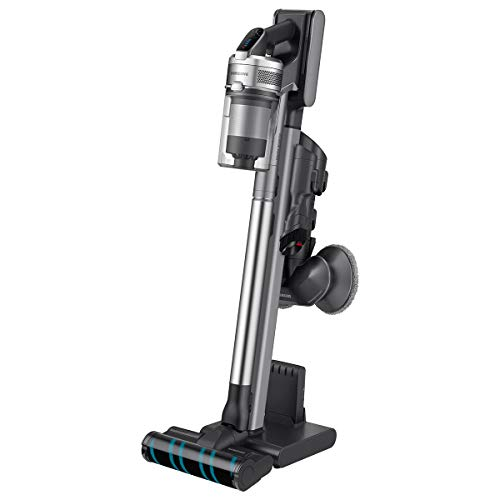 Samsung Jet VS90 Stick Vacuum with Spinning Sweeper in Titan ChroMetal