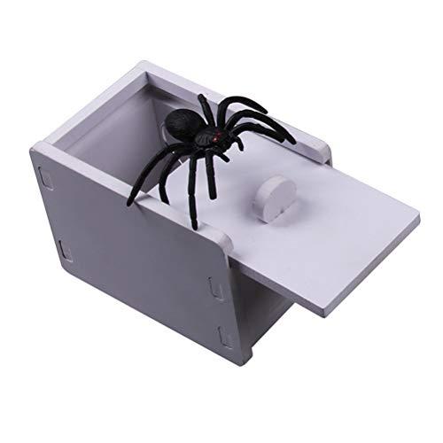 Leikance Spinnen-Schreck, Holz, versteckt in der Hülle, lustiges Trickspiel, Scherzspielzeug, Geschenk