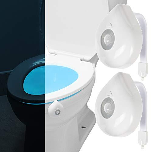 Vive Toilet Bowl Light - Night Motion Sensor Activated Device
