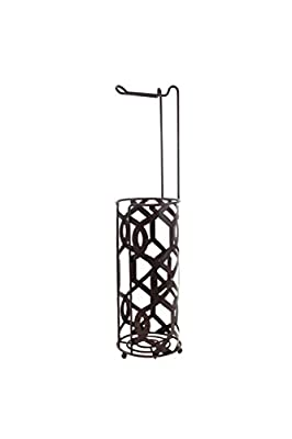 Inspired Living TOILET PAPER HOLDER RESERVE STAND TP TOWER, Beekman, BRONZE