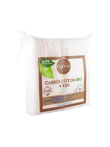 Gifrer 150 Carrés Coton Bio 9 x 9 cm