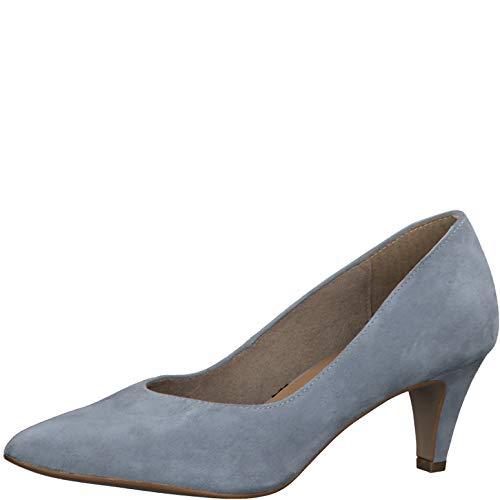 Tamaris Damen Pumps 22468-24, Frauen KlassischePumps, Abend Court-Shoes Absatzschuhe Abendschuhe stöckelschuhe Damen Lady,Light Grey,38 EU / 5 UK