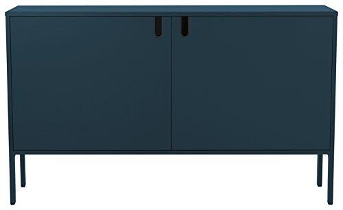 TENZO 8554-023 UNO Designer Schrank 2 Türen - Breit, MDF/Spanplatte, Petrol, 148 x 40 x 89 cm